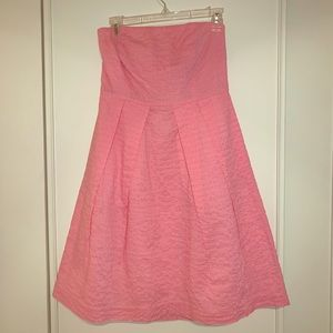 J. Crew pink strapless dress, size 4, Midi
